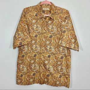 Burma Bibas | Men's Aztec Print Button Down Shirt